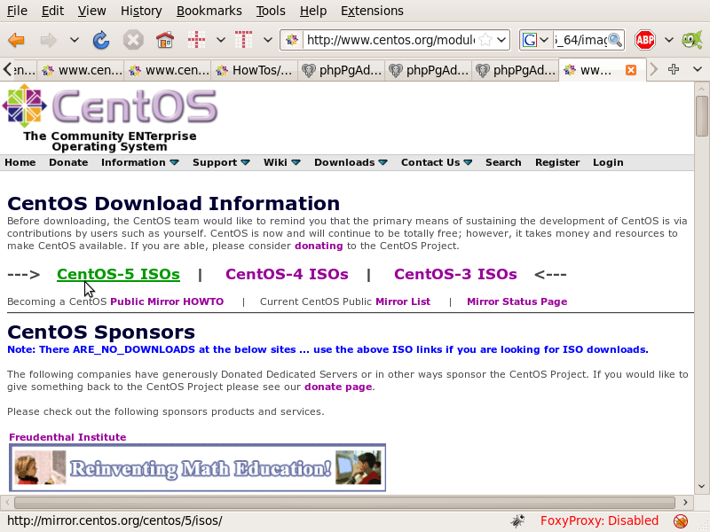 CentOS Downloads -> Mirrors